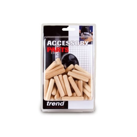 Trend DWL/4/50 Wooden Dowels 10 x 50mm Pack of 50