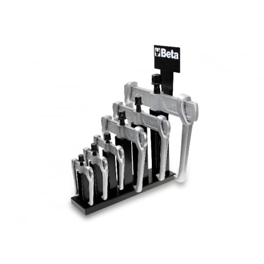 Beta Tools 015000626 Puller Set  6 Piece Sliding 2 Legged With Support