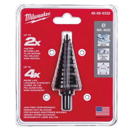 Milwaukee 48899332 Step Drill M6-M32