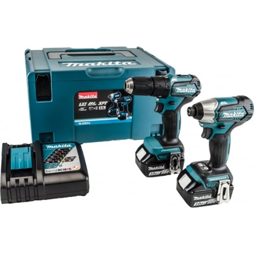 makita dlx2221j 18v compact twin pack 2 x bl1830 batteries. Black Bedroom Furniture Sets. Home Design Ideas