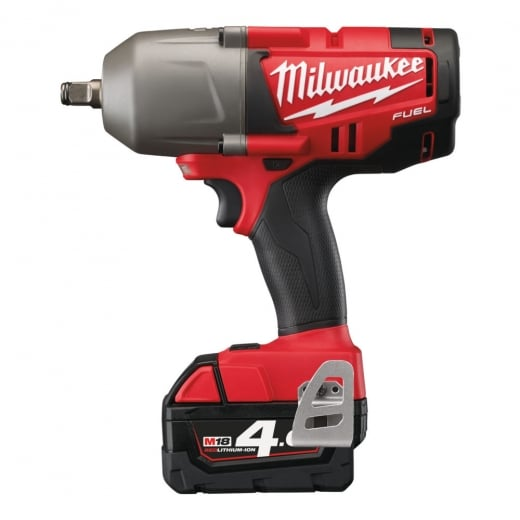 Milwaukee M18CHIWF12-402C 18v 1/2 Drive Impact Wrench 2 x 4.0ah Batteries In Fuel Bag