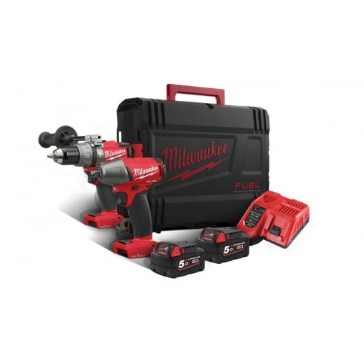 Milwaukee M18ONEPP2B-502X 18v One Key Twin Pack 2 Batteries + Charger