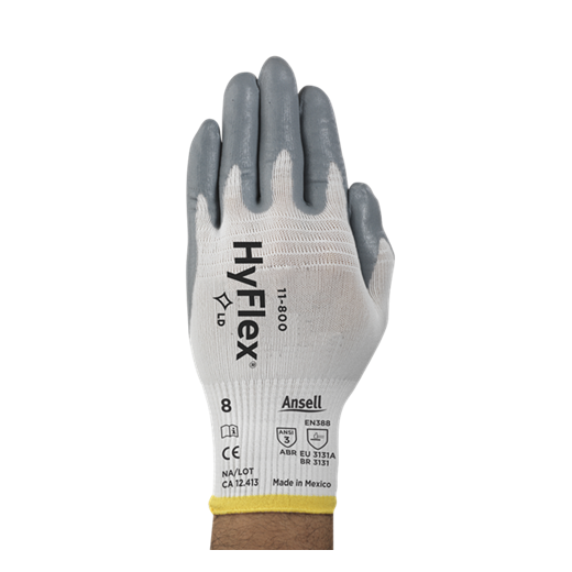 Ansell Hyflex Gloves with Nitrile Coating Grip