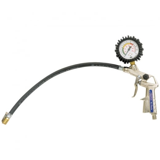 Draper 0 - 10 Bar or 0 - 140 Psi Air Tyre Inflator with Dial Gauge