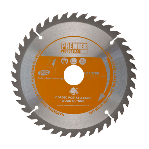 Premier Diamond Products GT10750 TCT Saw Blade 165x2.4x1.4x20mm 40 Teeth Wood Cutting