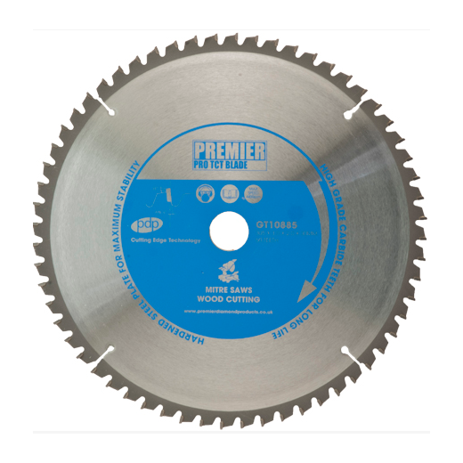 Premier Diamond Products 250mm x 2.8 x 1.8x 30mm Bore 40 Teeth Wood Cutting Blade GT10865