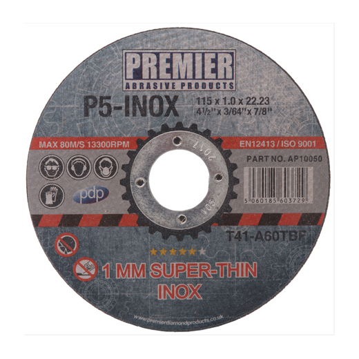 Premier Diamond Products AP10100 Metal Cutting Discs 230mm x 1.8mm Each