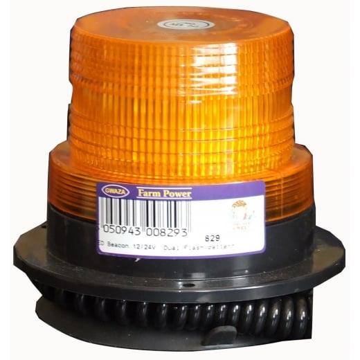 Farmpower LED Beacon Single Flash Pattern 12/24V