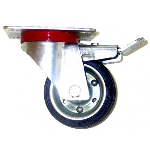 Farmpower 80mm Swivel & Brake Castor Wheel 50kg 3521