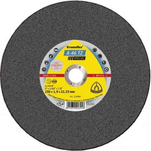 Klingspor 224084 Metal Cutting Slitting Disc 230X1.9MM