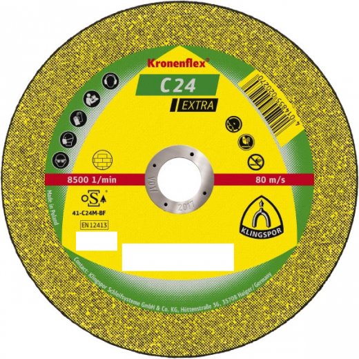 Klingspor 230mm Stone Cutting Discs 22.23 bore 3mm thick