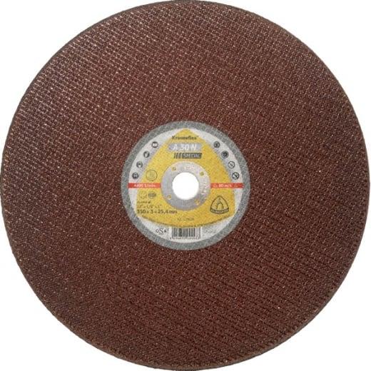 Klingspor 350mmx3mmx25.4mm Metal Chopsaw Cutting Discs