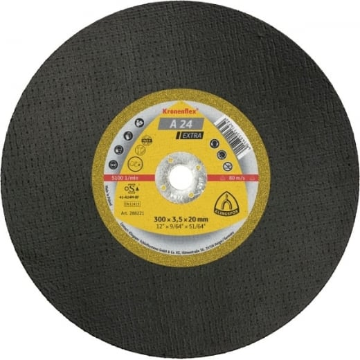Klingspor 300mmx20x3.5 Metal Cutting stone saw Discs