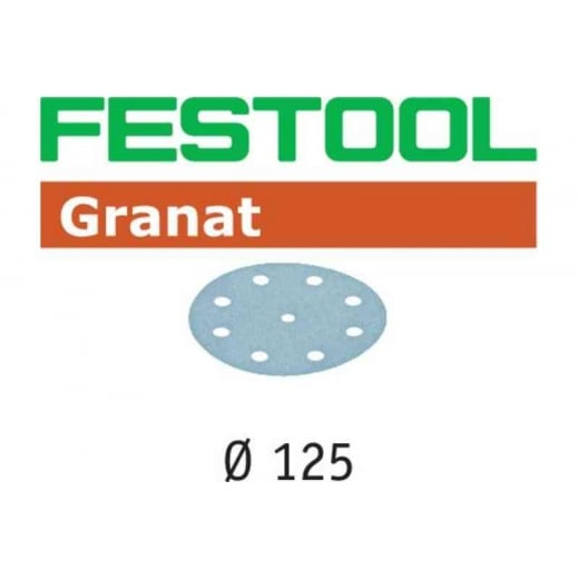 Festool 497165 40G 125mm Granat Discs Pack Of 50