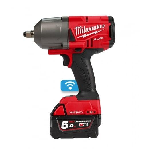 Milwaukee M18ONEFHIWF12-502X 18v Cordless High Torque 1898nm 1/2 One Key Impact Wrench Kit