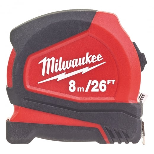 Milwaukee 4932459596 Pro Compact Tape Measures 8m