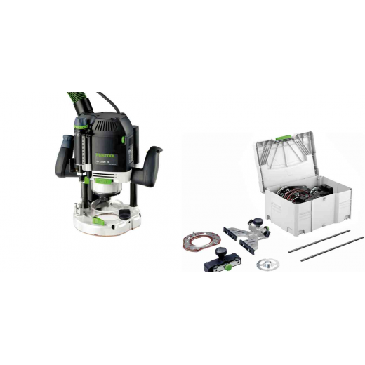 Festool 574396 OF2200EB-SET GB Router With Accessory Set 110v