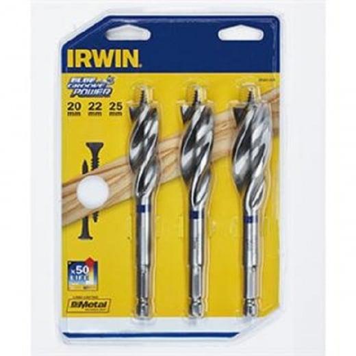 Irwin Blue groove power drill bit set 20,22,25mm