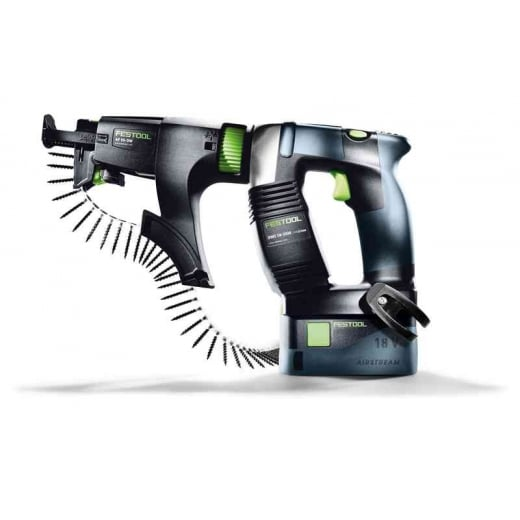 Festool Cordless 18v Construction Screwdriver DWC18-2500LI 5.2 PLUS Set 574744