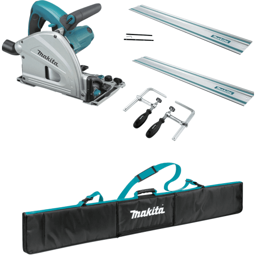 Makita SP6000 Bundle Deal With 2 x Guide Rails, Connectors, Clamp Set, Bag 240v