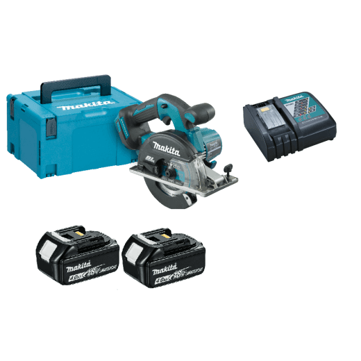 Makita DCS551RMJ 18v Metal Saw With 2 x BL1840 Batteries, Charger and Case