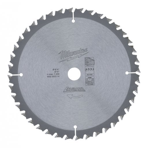 Milwaukee 4932352314 165mm blade 15.8mm bore 40 tooth.