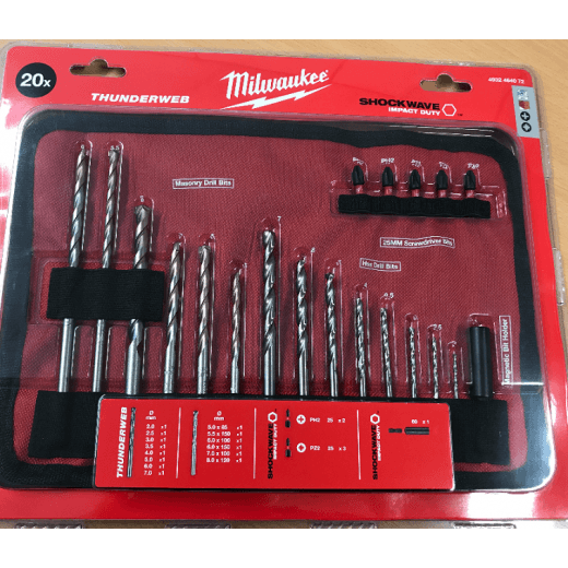 Milwaukee 20 Piece Accessory Set Of Drill Bits & Screwdriver Bits