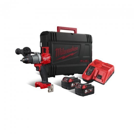 Milwaukee M18FPD2-502X 18v Fuel Combi Drill Generation II With 2 x 5.0Ah Batteries