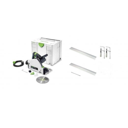 Festool TS55R Plunge Saw Package Deal With Rails Clamps + Connectors