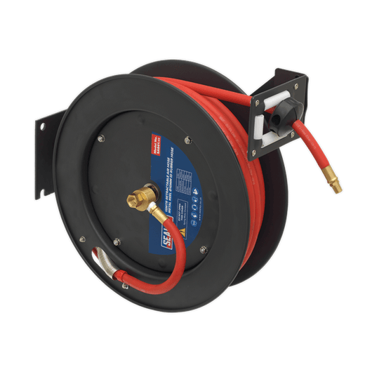 Sealey SA841 Retractable Air Hose Metal Reel 15m �10mm