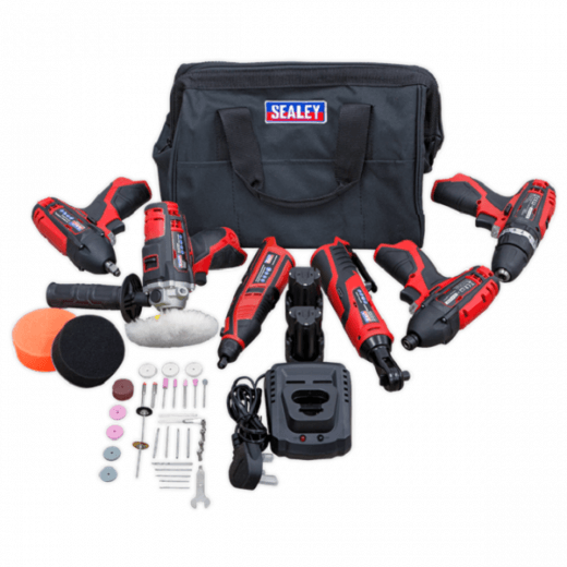Sealey CP1200COMBO2 12v Cordless 6 Piece Tool Kit