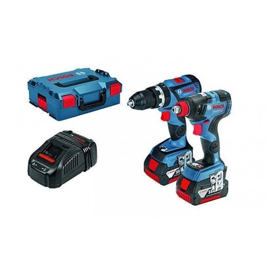 Bosch GSB18V-60C + GDX18V-200C 18v Cordless Twin Pack 2 x 5.0 Batteries