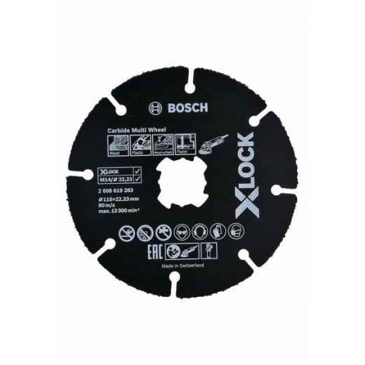 Bosch X-Lock 115mm x 1 x 22.23 Carbide Multi Wheel