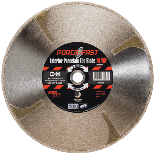 Premier Diamond Products DP19104 P6-VBP 300 x 3.0 x 20mm Porcelain Diamond Blade Vacuum Brazed
