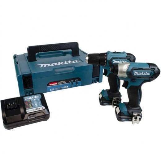Makita CLX224AJ 10.8v 2 Piece Kit DP333D Drill Driver & TD110D Impact Driver