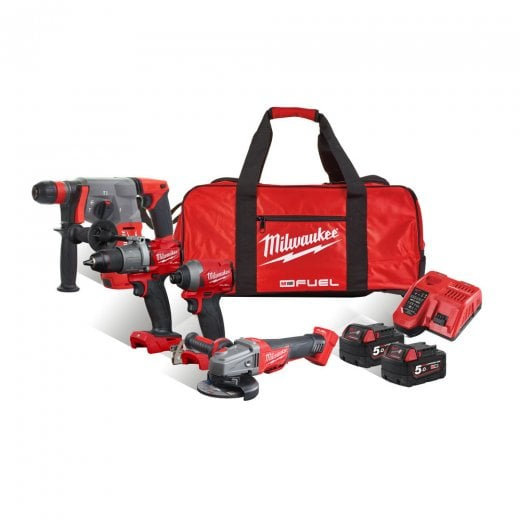 Milwaukee M18FPP4G2-502B 18v 4 Piece Cordless Kit m18fpd2 m18fid2 m18cag m18chx
