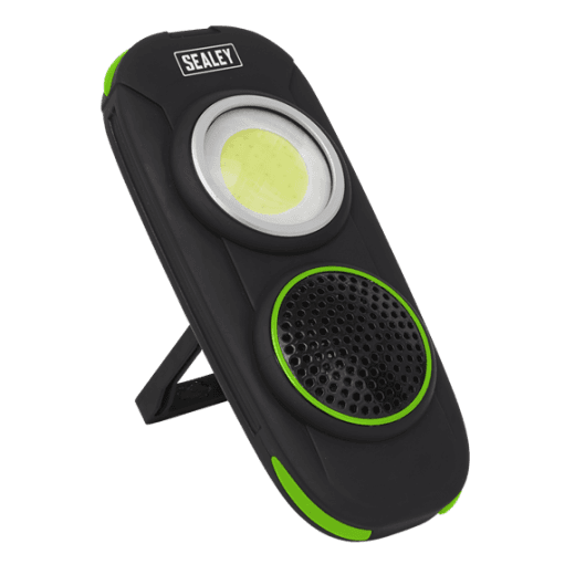Sealey LED50WS Rechargeable Torch with Wireless Speaker 10W COB LED