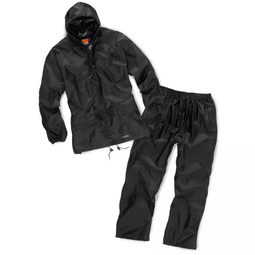 Scruffs 2pc Waterproof Rainsuit Black