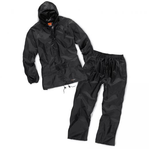 Scruffs 2pc Waterproof Rainsuit Black