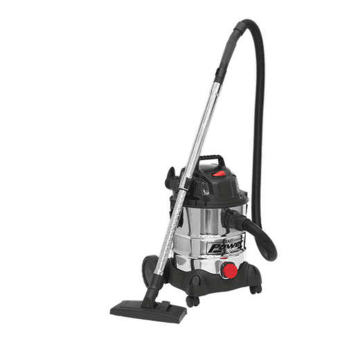 Sealey PC200SD Vacuum Cleaner Industrial Wet & Dry 20L