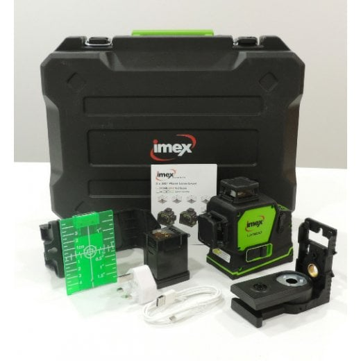 Imex Measuring Equipment 012-LX3DG Green Cross Line Laser Level
