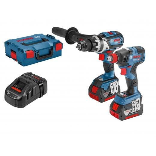 Bosch 06019G4273 18v Brushless Combi & Impact Wrench / Driver Set 2 x 5.0ah Batteries