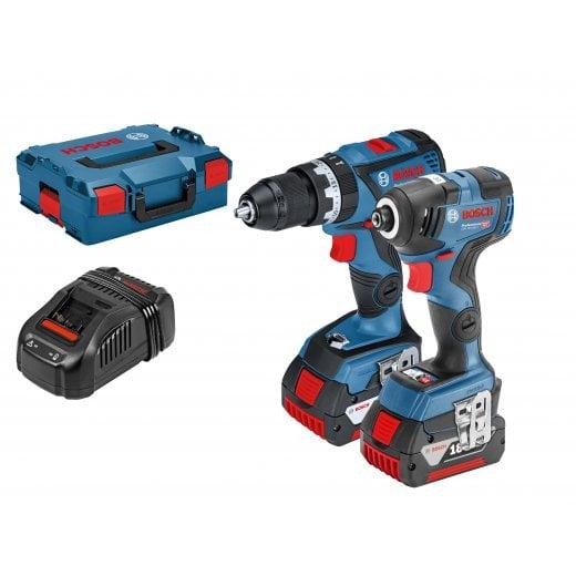 Bosch 06019G4172 18v Brushless Combi & Impact Driver Twin Pack 2 x 5.0ah Batteries