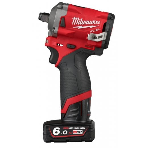 Milwaukee M12FIWF12-622X 12v Cordless 1/2 Impact Wrench Kit 2 Batteries, Charger, Case