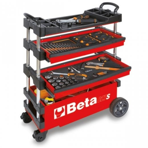 Beta Tools C27S Folding Tool Trolley Red