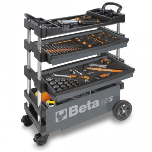 Beta Tools C27S Folding Tool Trolley Grey (tools not included)