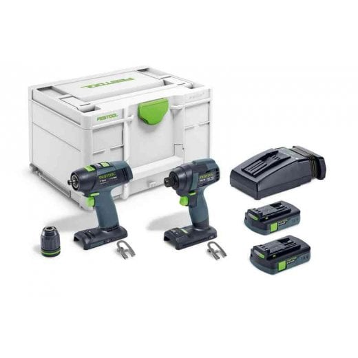 Festool TID 18 C 3,1 Set T18 18v Cordless Impact Drill Set In Systainer Sys3 M 237