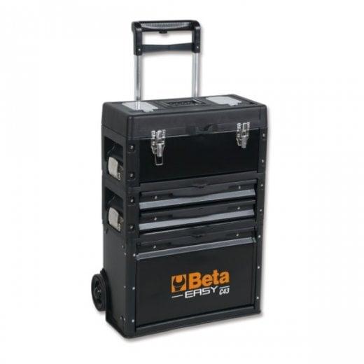 Beta Tools C43 Three Module Stacking Tool Trolley Box