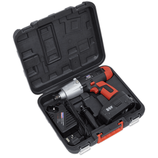 "Sealey CP2450MH 24v Cordless Impact Wrench 2Ah Ni-MH 1/2""Drive"