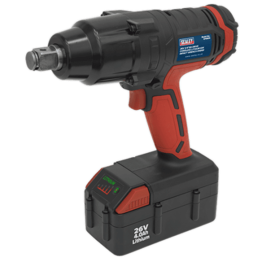 Sealey CP2634 26v 3/4 Drive Cordless Impact Wrench Lithium-ion 1 x 4.0ah Battery